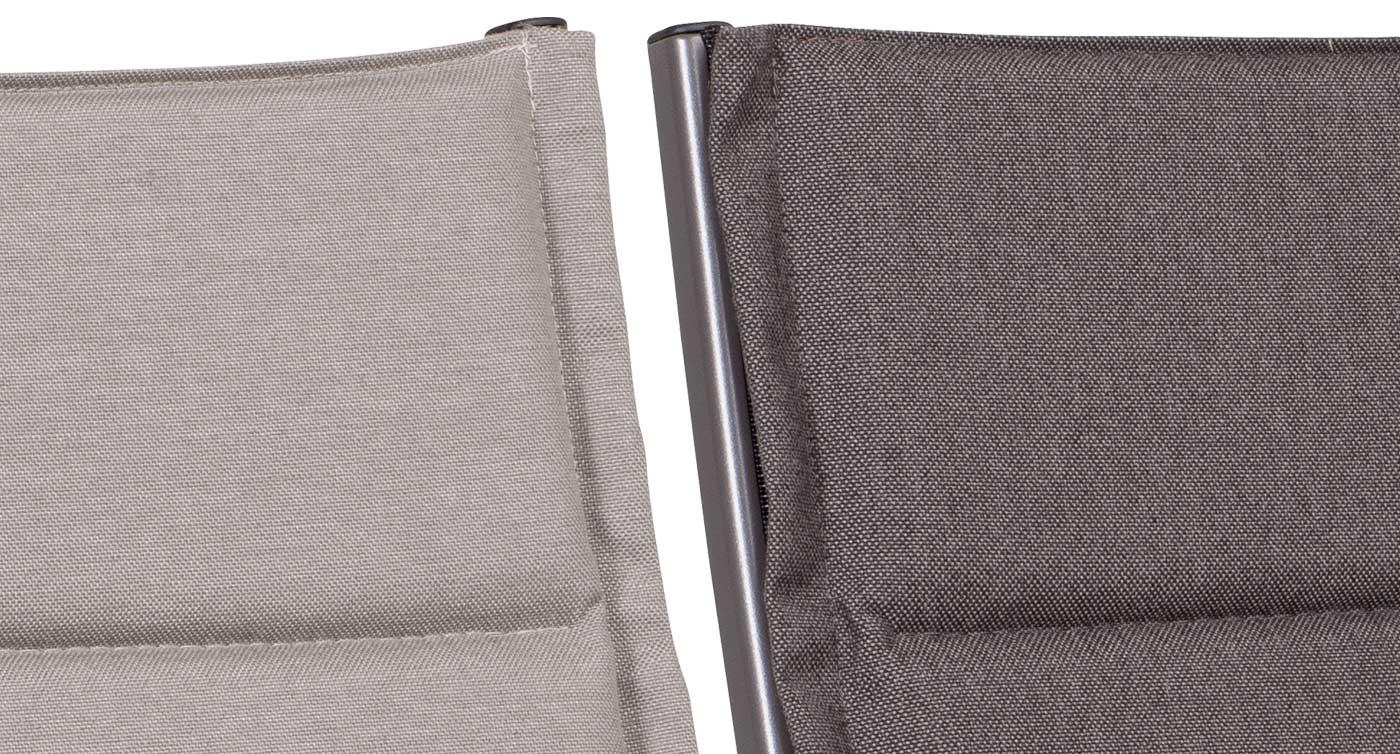 California Cushion Stoff grau und beige