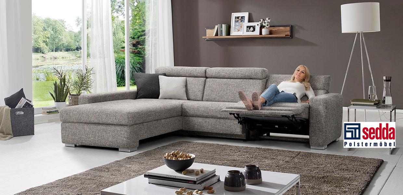 Sedda Sitzgruppe der Serie Ricardo in der Farbe grau
