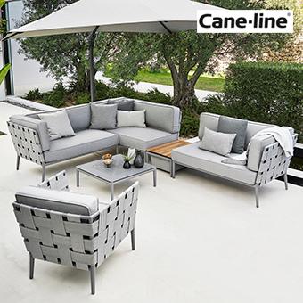 Loungemöbel Sessel und Sofa der Serie Conic in der Farbe grau