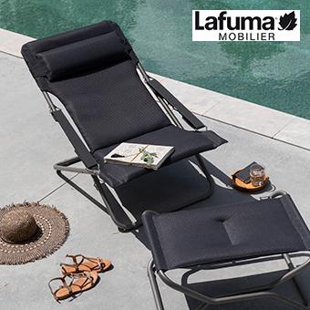 Sonnenstuhl der Serie Transabed XL in der Farbe schwarz